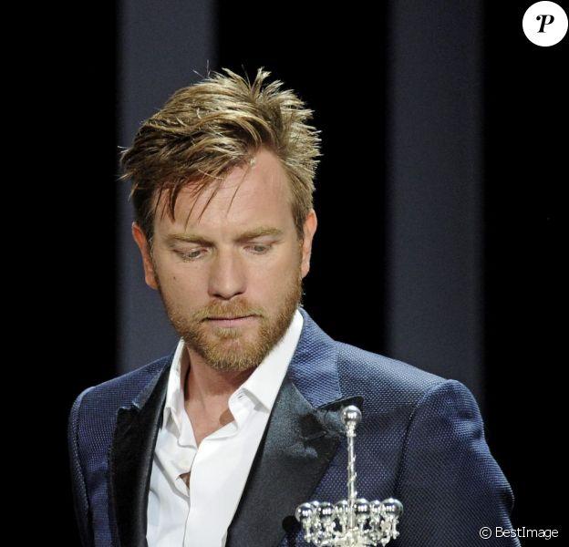 A 41 ans, Ewan McGregor a reçu le prix Donostia au festival de San Sebastian, le 27 septembre 2012.