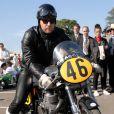 Ewan McGregor à moto en septembre 2012.