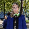 Alexandra Golovanoff arrive à Bercy pour assister au défilé printemps-été 2013 d'Haider Ackermann. Paris, le 29 septembre 2012.
