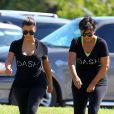 Kim Kardashian et sa mère Kris Jenner représentent DASH, nom de leur ligne de vêtements. Miami, le 29 septembre 2012.