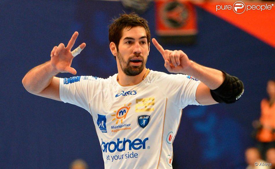 Nikola Karabatic lors du match de handball entre le Paris Saint-Germain et Montpellier le 30 septembre 2012 à Paris