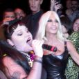 Beth Ditto et Donatella Versace à la soirée Versace, à Milan le 21 septembre 2012.