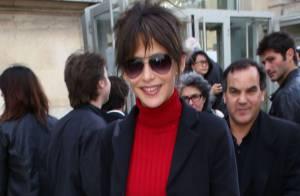 Fashion Week : Sophie Marceau, enjouée, assure le spectacle chez agnès b.