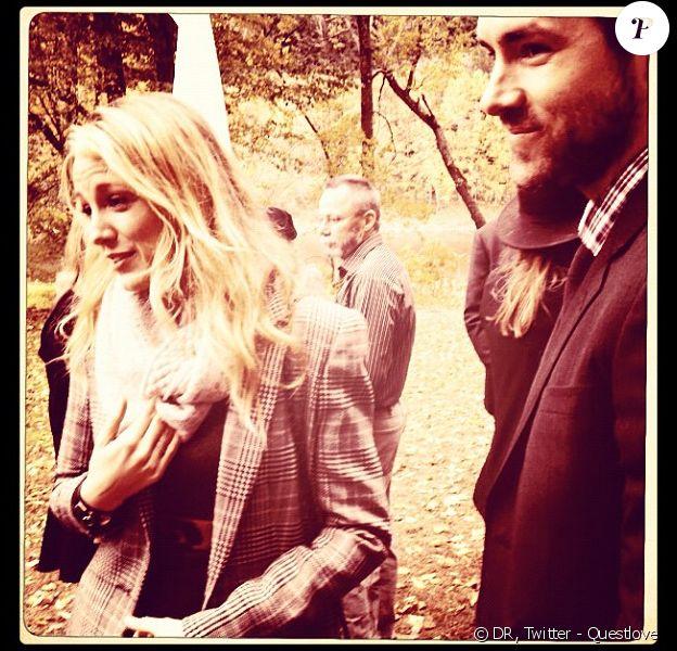 Blake Lively et Ryan Reynolds au mariage d'Amber Tamblyn et David Cross, le samedi 6 octobre.