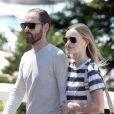 Kate Bosworth et Michael Polish, deux touristes amoureux sur la promenade Bondi to Bronte à Sydney. Le 10 octobre 2012.