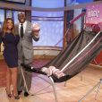 Magic Johnson, invité de l'animatrice Wendy Williams et prêt à une partie de basket avant une interview vérité lors du  Wendy Williams Show  le 10 octobre 2012 à New York