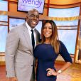 Magic Johnson, invité de la pulpeuse animatrice Wendy Williams pour une interview vérité lors du  Wendy Williams Show  le 10 octobre 2012 à New York