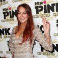 Lindsay Lohan à la soirée de lancement de la boisson énergétique Mr. Pink Ginseng, au Beverly Wilshire Hotel à Los Angeles, le 11 octobre 2012.