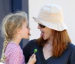 Marcia Cross : Tendres grimaces et sucreries avec sa fille Eden