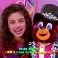 Mila Kunis lorsqu'elle avait dix ans dans un spot Lisa Franck en 1993