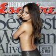 Mila Kunis, élue femme la plus sexy du monde, en couverture du magazine  Esquire  de novembre 2012.