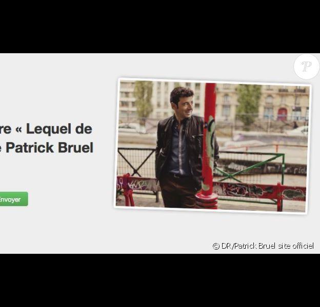 Patrick Bruel propose l'écoute de Lequel de nous, son dernier single, sur son site officiel le 18 octobre 2012