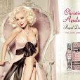 Christina Aguilera méconnaissable pour la campagne télé de son parfum Royal Desire, octobre 2012.