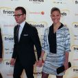 """"""" La princesse Victoria et le prince Daniel de Suède lors de l'inauguration, le 27 octobre 2012, du nouveau stade de Solna (Stockholm), la Friends Arena. """""""