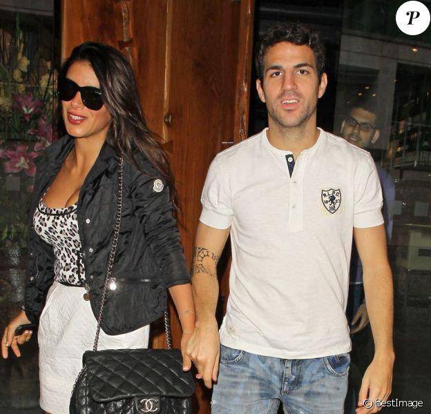 Cesc Fabregas et sa compagne Daniella Semaan le 23 juin 2012 à Londres