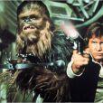 Harrison Ford et Chewbacca dans l' Episode 4 : Un Nouvel Espoir .