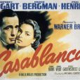 Poster du film  Casablanca  de Michael Curtiz.
