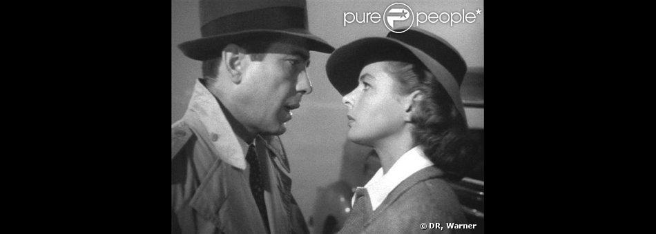 Humphrey Bogart et Ingrid Bergman dans le film  Casablanca  (1942).