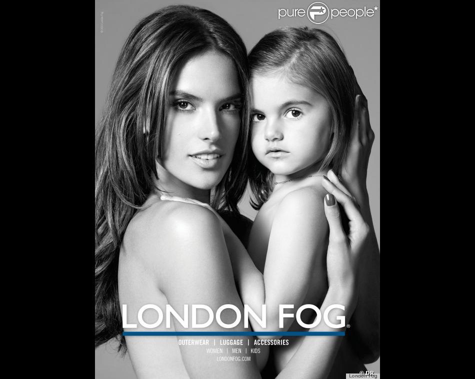 Alessandra Ambrosio et son adorable fillette Anja sont les égéries de la campagne London Fog