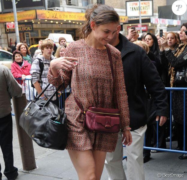 Katie Holmes a repris le chemin des planches et ça lui réussi. New York le 10 novembre 2012.