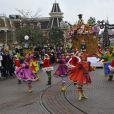 Lancement de la parade de Noël à Disneyland Paris le 10 novembre 2012
