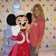 Sandrine Corman lors du lancement de la parade de Noël à Disneyland Paris le 10 novembre 2012