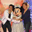 Alex Goude, Maud Fontenoy lors du lancement de la parade de Noël à Disneyland Paris le 10 novembre 2012