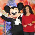 Aida Touihri lors du lancement de la parade de Noël à Disneyland Paris le 10 novembre 2012