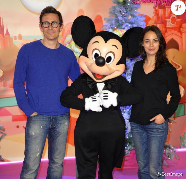 Michel Hazanavicius et Bérénice Bejo lors du lancement de la parade de Noël à Disneyland Paris le 10 novembre 2012