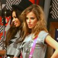 """Les belles Nathalie Sorensen et Angie Torres lors de la séance photo pour la marque """"Lord and Lady Baltimore"""" de Christian Audigier à Los Angeles le 10 novembre 2012"""