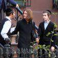Vanessa Paradis, portant une perruque, sur le tournage du film Fading Gigolo à New York le 12 novembre 2012