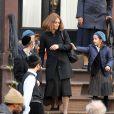 Vanessa Paradis sur le tournage du film Fading Gigolo à New York le 12 novembre 2012