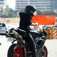 Justin Bieber sur sa moto Ducati le 14 novembre 2012 à Los Angeles.