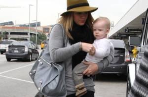 Hilary Duff, amincie et maman protectrice avec son petit Luca