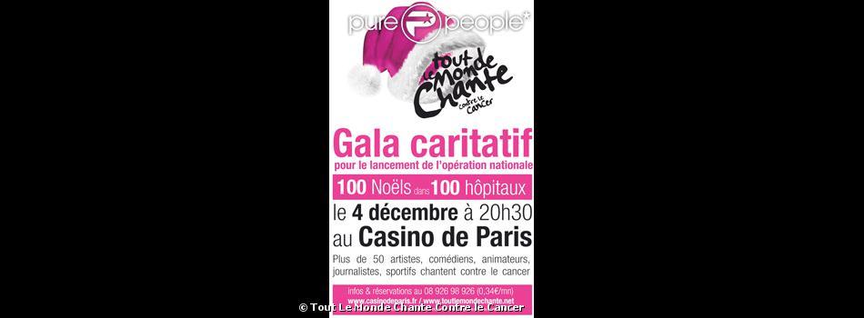 Tout le monde chante contre le cancer le 4 décembre au Casino de Paris.