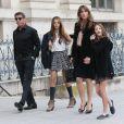 Sylvester Stallone et sa famille à Paris. Le 22 novembre 2012.