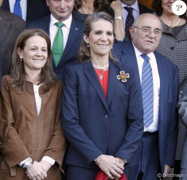 La princesse Elena d'Espagne lors de la cérémonie de remise des Prix Université Entreprise le 22 novembre 2012 à l'Université polytechnique de Madrid.