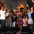 au concert-événement de Mandela