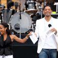 Will Smith et sa femme au concert-événement de Mandela
