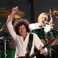 Brian May de Queen au concert-événement de Mandela