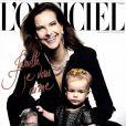 Carole Bouquet pose avec sa petite-fille en couverture de L'Officiel (décembre 2012-janvier 2013)