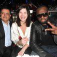 Edouard Nahum, Delphine Chanéac et Maître Gims lors de la soirée d'Edouard Nahum afin de présenter sa nouvelle collection Maya au Vip Room à Paris, le 4 Decembre 2012