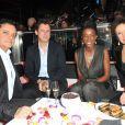 Mia Frye, Edouard Nahum, Delphine Chanéac et Maître Gims lors de la soirée d'Edouard Nahum afin de présenter sa nouvelle collection Maya au Vip Room à Paris, le 4 Decembre 2012