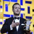 """Tobias Lindhon, prix du jury pour le film """"A Hijacking"""" lors de la cérémonie de clôture du Festival du Film de Marrakech le 8 décembre 2012"""