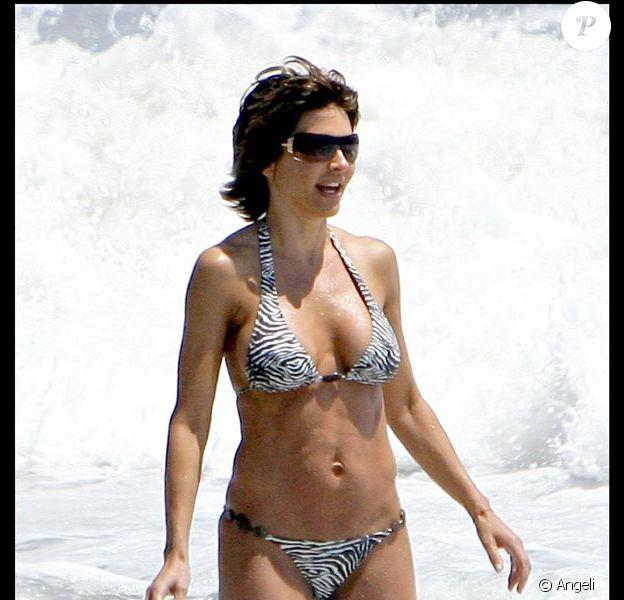 Lisa Rinna, à la plage et en famille !
