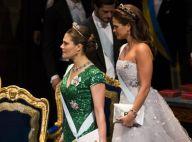 Victoria et Madeleine de Suède : Etincelantes en robe de bal pour les Nobel 2012
