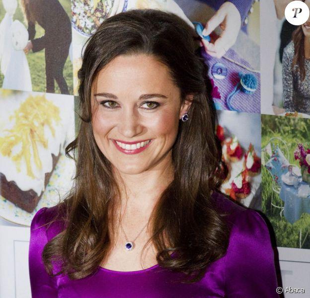 Pippa Middleton en promotion de son ouvrage de party planning Celebrate à Harleem, aux Pays-Bas, le 11 décembre 2012.