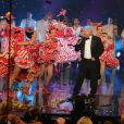 Patrick Sébastien lors de l'enregistrement de l'émission Le grand cabaret sur son 31, le 7 décembre 2012. L'émission sera diffusée le 31 décembre 2012.