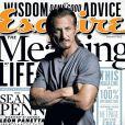 Sean Penn en couverture du magazine  Esquire  pour le numéro de janvier 2013.