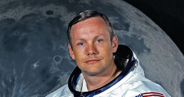 Neil A. Armstrong à Houston le 1er mai 1969....